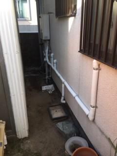 配管水漏れ 給水管引替え工事 (2)